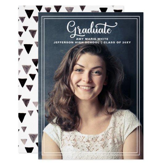Classic triangles Graduation Announcement