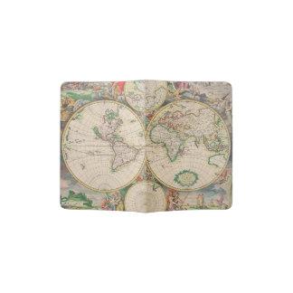 Classic Trip Vintage Travel World Map Passport Holder