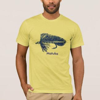 Classic Trout Fly t-shirt blue matuka streamer.