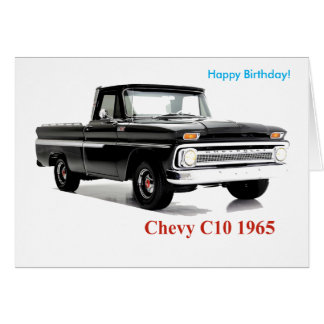 Classic Truck image for Birthday greeting card
