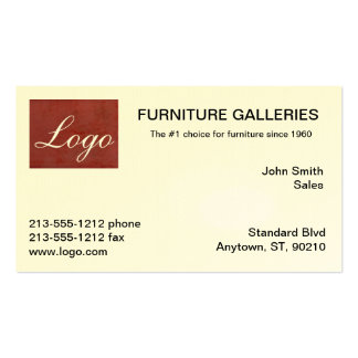 Classic Tuscan Red Logo Business Cards