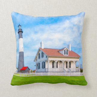 Classic Tybee Island Lighthouse Throw Pillows
