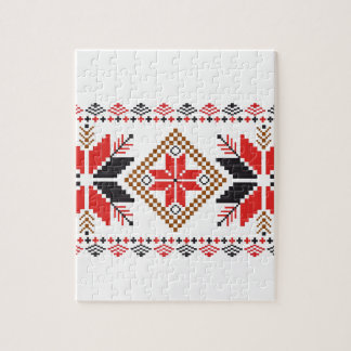 Classic Ugly Christmas Sweater Print Puzzle