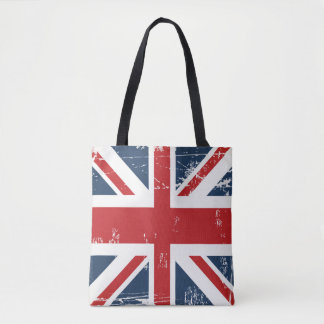Classic UK Flag Union Jack Old Look Tote Bag