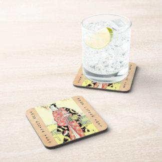 Classic ukiyo-e Traditional Japanese Samurai art Beverage Coaster