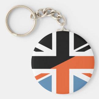 Classic Union Jack British(UK) Flag with Black Key Chains