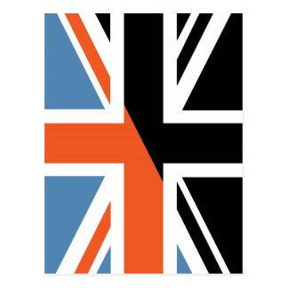 Classic Union Jack British(UK) Flag with Black Postcard