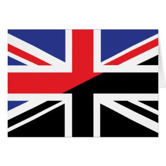 Classic Union Jack British(UK) Flag with Black & W Card