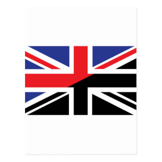Classic Union Jack British(UK) Flag with Black & W Postcard