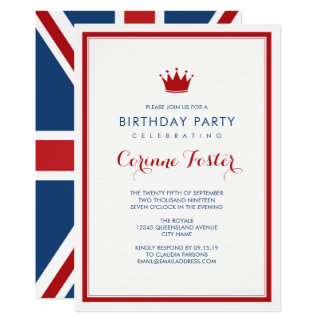 Classic Union Jack Flag Birthday Card