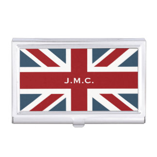 Classic Union Jack Flag Business Card Holder