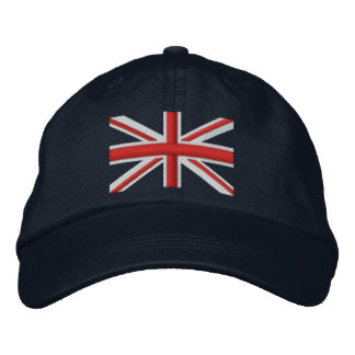 Classic Union Jack Flag England Swag Embroidery Embroidered Hat