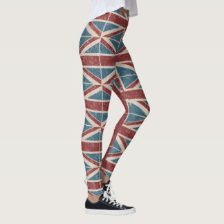 Classic Union Jack, red and blue Leggings