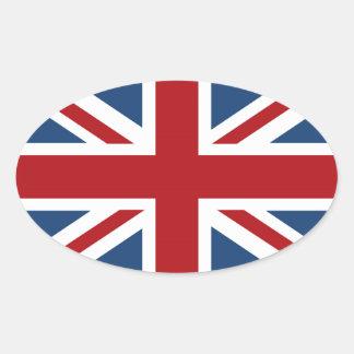 Classic Union Jack UK Flag Oval Sticker