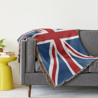 Classic Union Jack UK Flag Throw Blanket