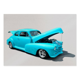 Classic Vibrant Blue Automobile Pack Of Chubby Business Cards