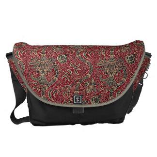 Classic Victorian Floral Design Messenger Bag