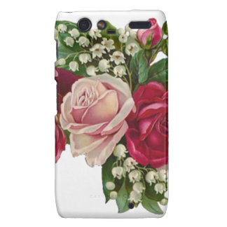 Classic Victorian Roses Lily of the Valley Romance Droid RAZR Cover
