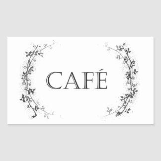 Classic Vine Design Cafe Container Labels Stickers