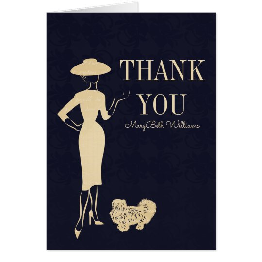 Classic Vintage 50's Fashion Thank You Card