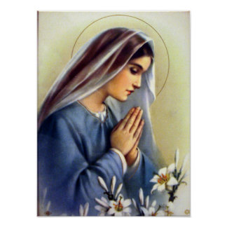 Classic Vintage Blessed Virgin Mary Mother of God Poster