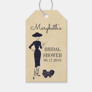 Classic Vintage Fashion Bridal Shower Gift Tags