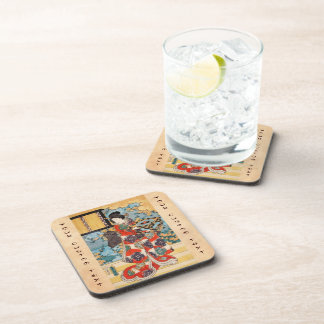 Classic vintage japanese geisha  ukiyo-e Utagawa Drink Coasters