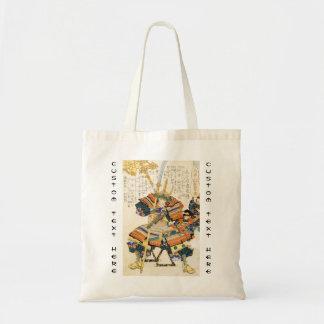Classic Vintage Japanese Samurai Warrior General Budget Tote Bag