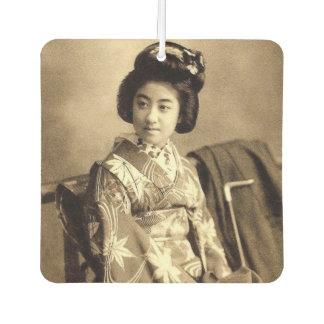 Classic Vintage Japanese Sepia Toned Geisha 芸者 Car Air Freshener