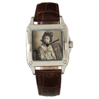 Classic Vintage Japanese Sepia Toned Geisha 芸者 Watch