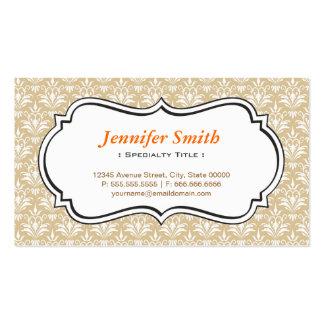 Classic Vintage Jasmine Damask - Simple Elegant Business Card