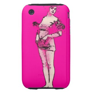 Classic Vintage Lady iPhone 3G/3GS Case