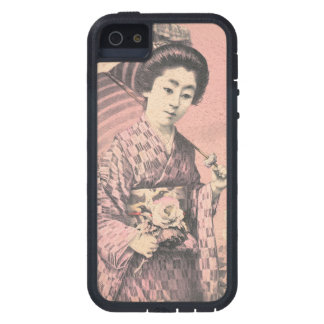 Classic vintage portrait of geisha japanese lady case for iPhone 5