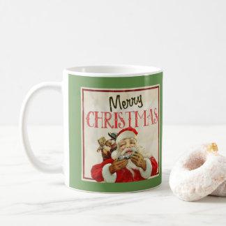 Classic Vintage Santa Claus Christmas Coffee Mug
