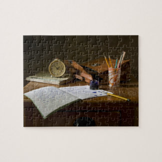 Classic Vintage Still Life with Clock Jigsaw Puzzle