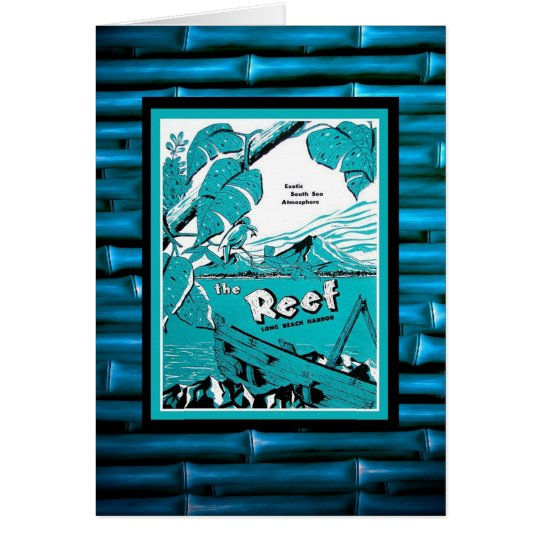 Classic vintage Tiki menu! Card