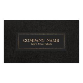 Classic Vintage, Traditional Entrepreneur Black Pack Of Standard Business Cards