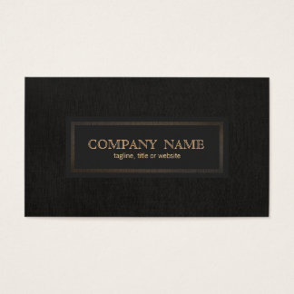 Classic Vintage, Traditional Entrepreneur Black Business Card