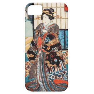 Classic vintage ukiyo-e japanese geisha Utagawa Barely There iPhone 5 Case