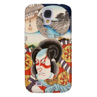 Classic vintage ukiyo-e kabuki samurai Utagawa art Galaxy S4 Cover