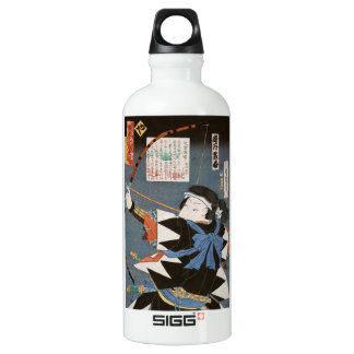 Classic vintage ukiyo-e kyudo archer Utagawa art Water Bottle