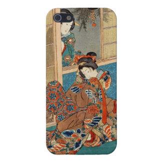 Classic vintage ukiyo-e two geishas Utagawa art iPhone 5 Case