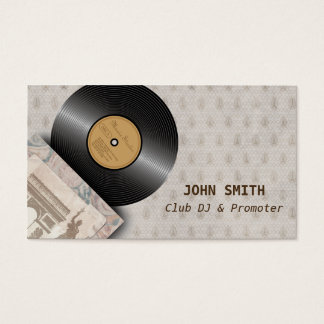 Classic Vinyl Record Club DJ  Music Business Cards