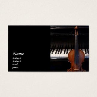 Classic Violin / Viola and Piano Business Card