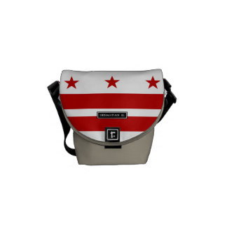 Classic Washington D.C. Flag Courier Bag