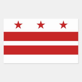 Classic Washington D.C. Flag Rectangular Sticker