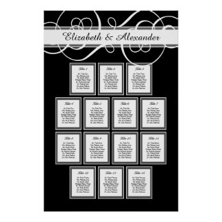 Classic Wedding Dinner 14 Table Seating Chart