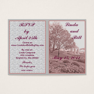 Classic Wedding Memories RSVP Cards