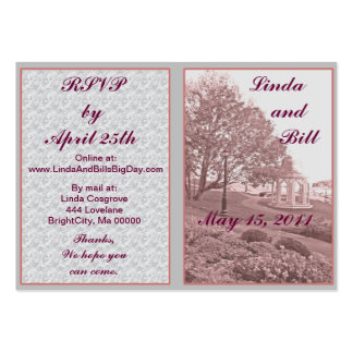 Classic Wedding Memories RSVP Cards Pack Of Chubby Business Cards