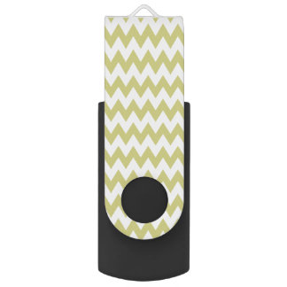 Classic White Chevron - USB Flash Drive Swivel USB 3.0 Flash Drive